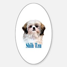 Shih Tzu Name Oval Decal