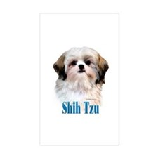 Shih Tzu Name Rectangle Decal