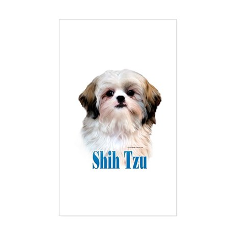 Shih Tzu Name Rectangle Sticker