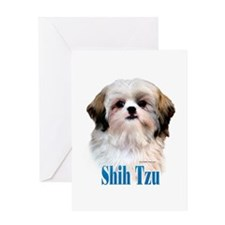 Shih Tzu Name Greeting Card
