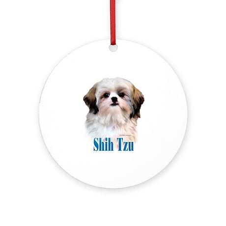 Shih Tzu Name Ornament (Round)
