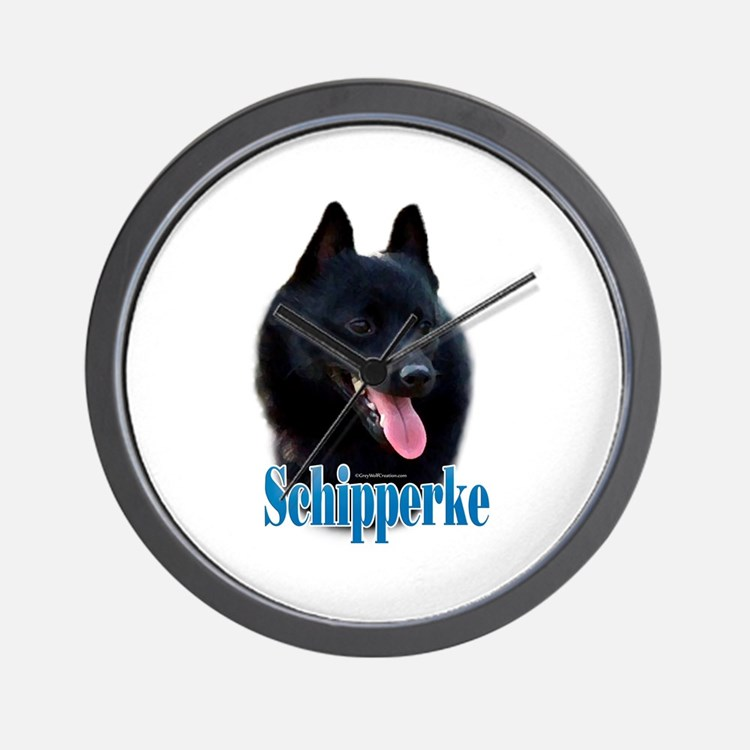 Schipperke Name Wall Clock