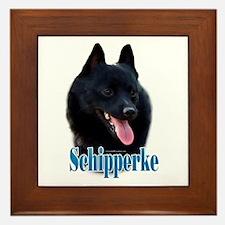 Schipperke Name Framed Tile