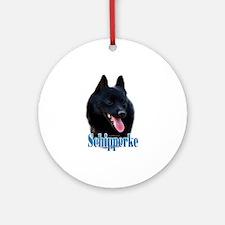 Schipperke Name Ornament (Round)