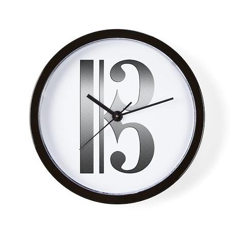 """Silver"" C Clef Wall Clock"