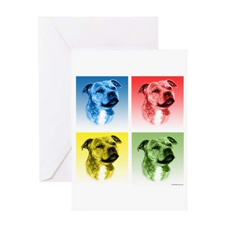 Staffy Pop Greeting Card