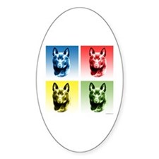 Schipperke Pop Oval Decal