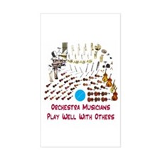Orchestra--Play Well With Oth Rectangle Decal