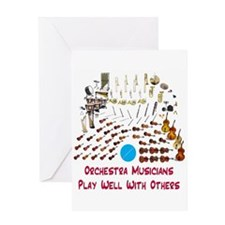 Orchestra--Play Well With Oth Greeting Card