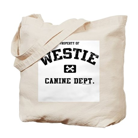 Canine Dept.- Westie Tote Bag