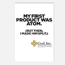 God, Inc. Atom Postcards (Package of 8)
