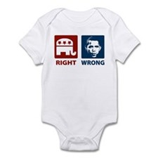 Anti Obama: Right/Wrong Infant Bodysuit