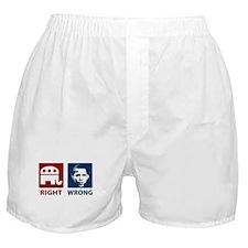 Anti Obama: Right/Wrong Boxer Shorts