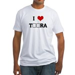 I Love TЁЯRA Fitted T-Shirt