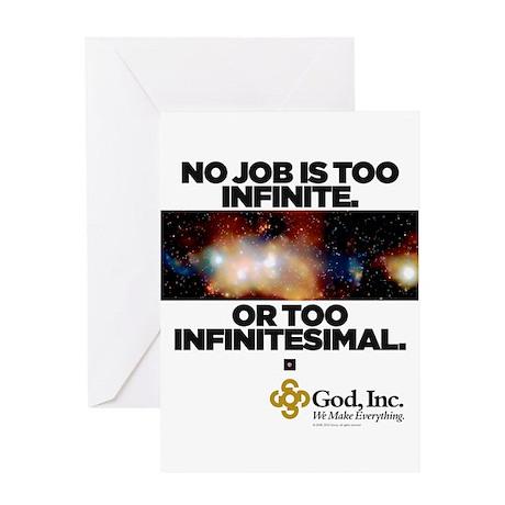 God, Inc. Infinite Greeting Card