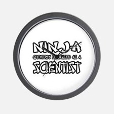 """""""Ninja...Scientist"""" Wall Clock"""