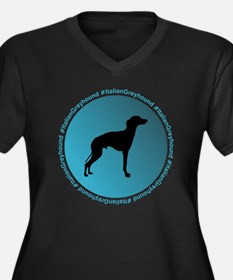 Cute Trained italian greyhound Women's Plus Size V-Neck Dark T-Shirt
