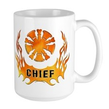 Fire Chiefs Flame Tattoo Mug