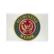 Accounting Major College Course Rectangle Magnet (