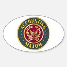 Accounting Major College Course Oval Decal