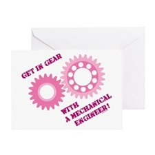 Pink Get In Gear Greeting Card