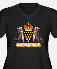 Cornwall Coat of Arms Women's Plus Size V-Neck Dar