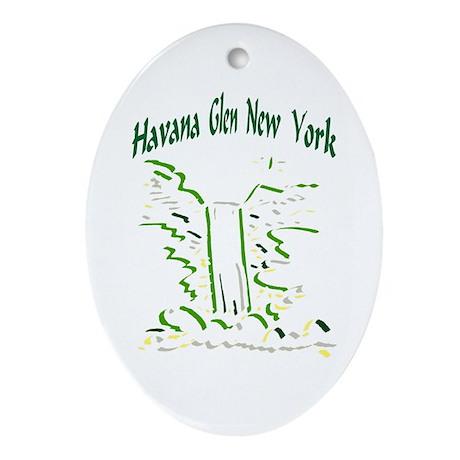 Havana Glen NY Oval Ornament
