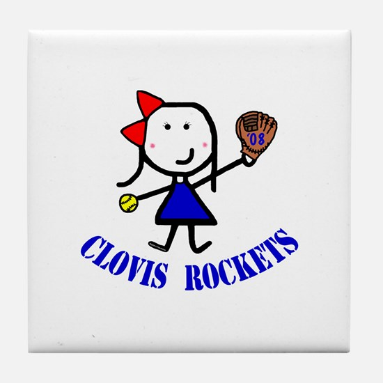 Softball - Clovis Tile Coaster