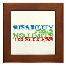 Disability No Limits Framed Tile