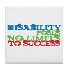 Disability No Limits Tile Coaster