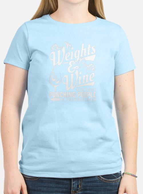 wine and weights T-Shirt