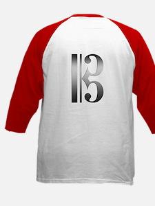 """""""Silver"""" C Clef Kids Baseball Jersey"""