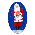 Masonic Santa Oval Sticker
