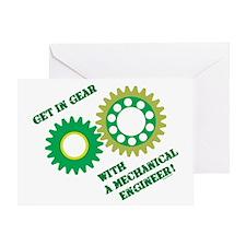 Green Get In Gear Greeting Card