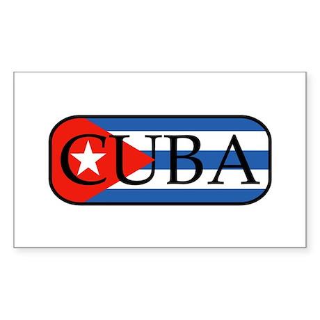 Cuba Rectangle Sticker