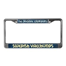 Lowrider Swedish Vallhund License Plate Frame