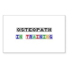 Osteopath In Training Rectangle Decal