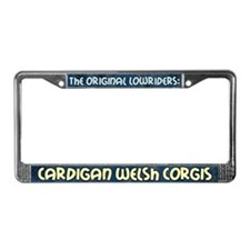 Lowrider Cardigan Welsh Corgi License Plate Frame