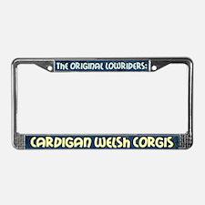 Lowrider Cardigan Welsh Corgi License Plate Frame