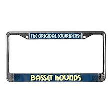 Lowrider Basset Hound License Plate Frame