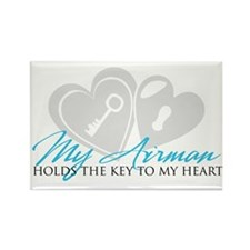 Key to my Heart Rectangle Magnet