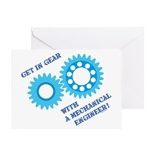 Blue Get In Gear Greeting Card