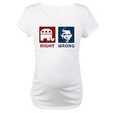 Anti Obama: Right/Wrong Shirt