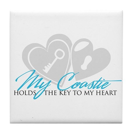Key to my Heart Tile Coaster