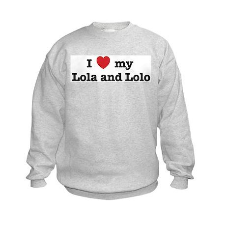 I Love my Lola and Lolo Kids Sweatshirt