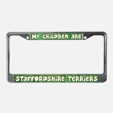 My Children AmStaff License Plate Frame