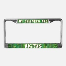 My Children Akita License Plate Frame