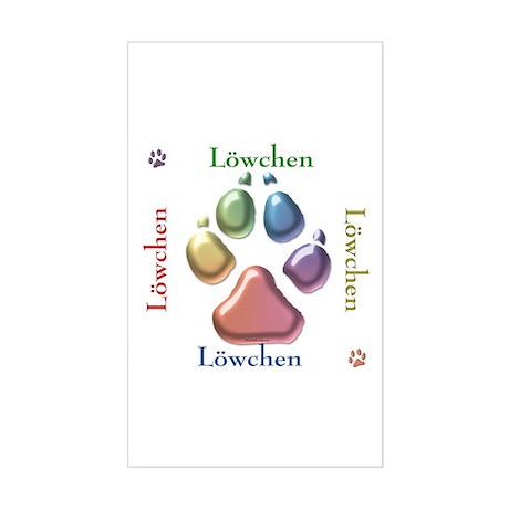 Löwchen Name2 Rectangle Sticker