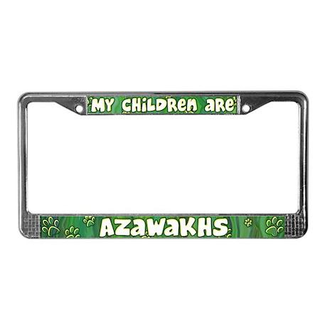 My Children Azawakh License Plate Frame
