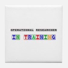 Operational Researcher In Training Tile Coaster